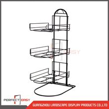 China manufacture free standing hats device metal counter display stand