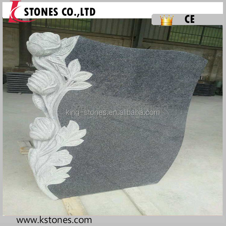 Cheap Good Quality European Style 654 Granite Carved Monument Tombstone
