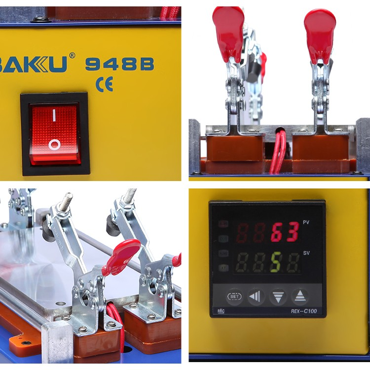 BAKU new design BK-948B Mobile repairing lcd separator disassembly machine for cellphone screen remove