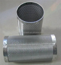 ss316 round hole Stainless Steel Perforated Tube / perforated metal mesh