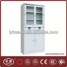 cold rolling steel solid pine wood file cabinet