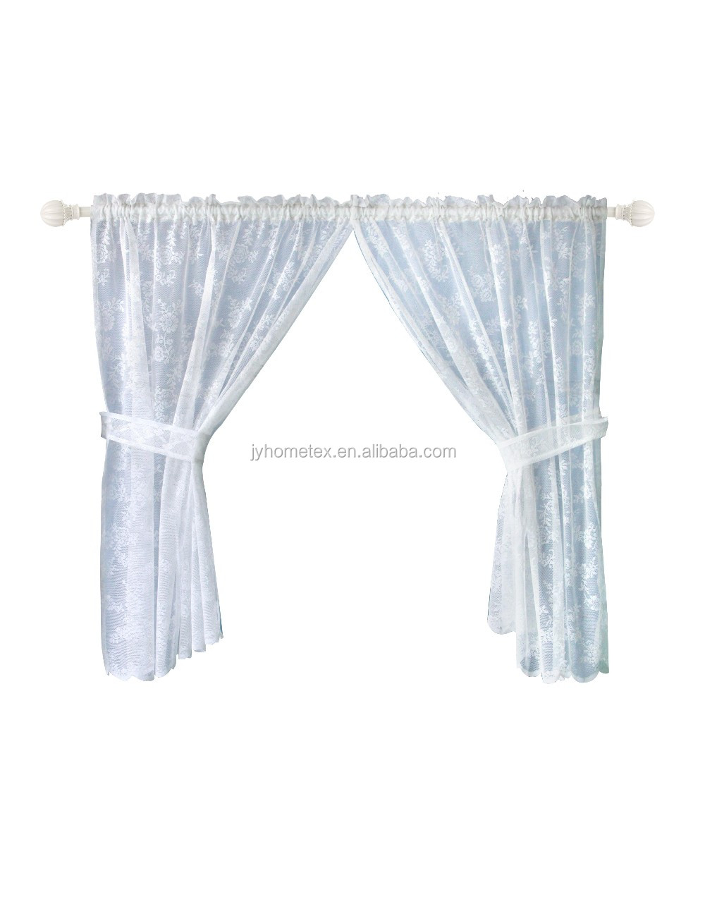 newest hot sale wholesale polyester cheap price lace cafe curtain/kitchen curtain 110*120cm