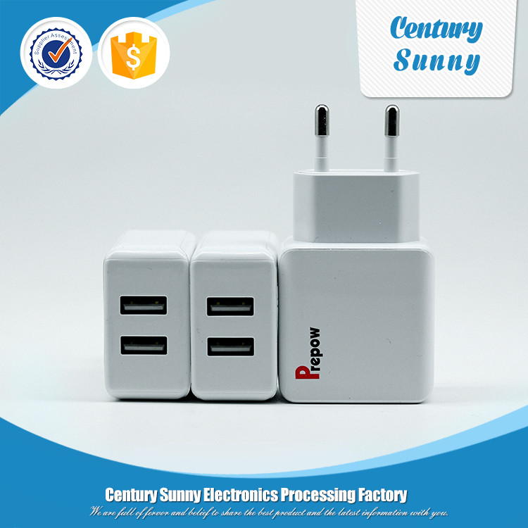EU plug 5V 2.1A usb wall home charger with USB cable
