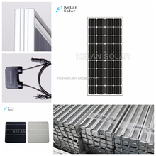 Aluminum 80W Mono Crystal Solar Panel 21.6V Circuit Voltage Low - Iron Glass PV solar module