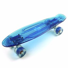 Mix color skateboard fish skateboard New promotional led light wheels flowboard fish skateboard