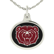 Trending Hot Real Silver Necklace Missouri State Bears Charm Necklace
