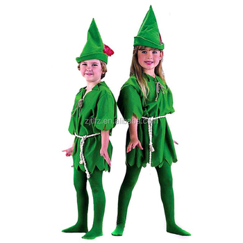 Peter Pan Robin Hood Storybook boys girls Fancy Dress Party Unisex Costume