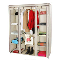 Living room furniture non woven fabric wardrobe design