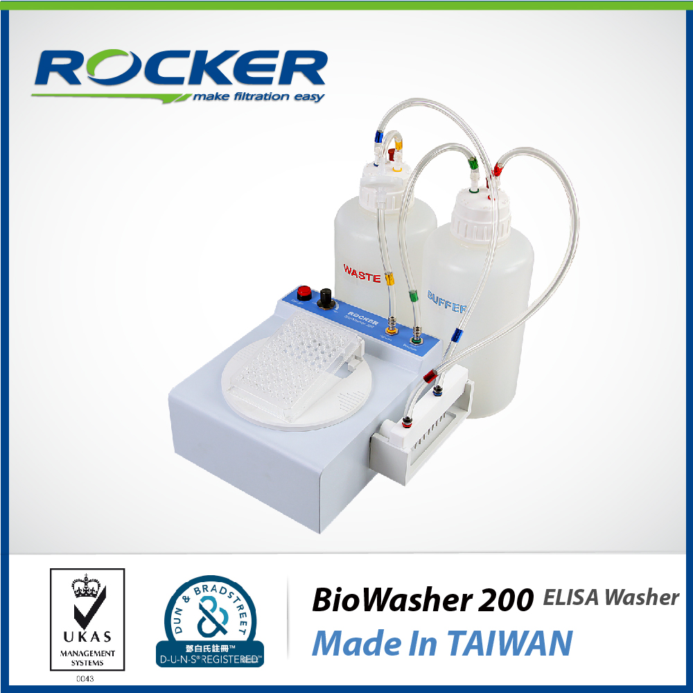 Rocker Scientific Life Science Laboratory Equipment BioWasher 200 Semi-automatic Microplate Washer Elisa Analyzer
