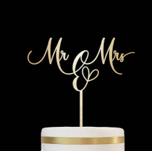 custom epoxy gold silver glitter Monogram MR&MRS alphabet acrylic cake topper for wedding engaged party ornament