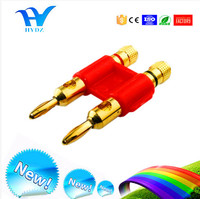High quality Dual Banana Plug for Speaker with Plastic