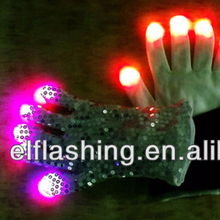 led rainbow light gloves,led lighting gloves for 2018 new gift