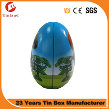 customized empty easter eggs tins with printing color
