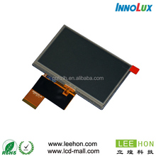 Innolux 4.3 inch LCD panle with touch screen 480x272 W:H=16:9