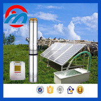 solar seamless Stainless Steel 3 hp submersible well pump with capacitor