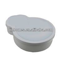 Water drop Shaped plain Candy Chocolate Packing Tin Boxes