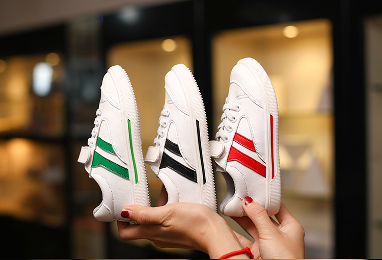 2017 summer and autumn new style kids soft bottom small white shoes boy sports shoes