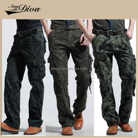New wholesale model men outdoor casual military cargo pants pants with side pockets