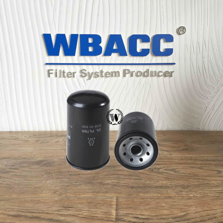 WBACC FILTER spin-on oil filter 6136-51-5121 613 651 512 1 FOR KOMATSU