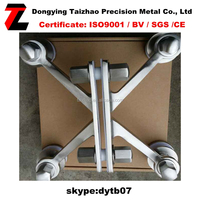 Stainless Steel 304 nonmagnetic glass spider factory sale 200mm and hexagon nuts accessories