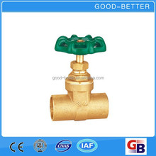 "Hot selling 3/4"" brass rising stem sluice gate valve with price"