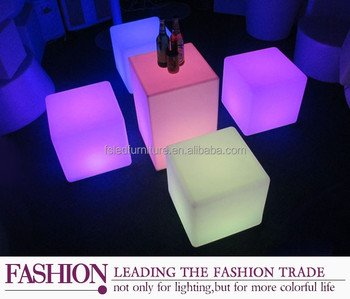 plastic led cube chair/Wonderful Chair light LED cube/led cube