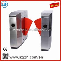 Entrance Retractable Flap Barrier,Electronic Subway Gate, Security System Flap Turnstile Gate