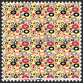 Polka dots printed taffeta fabric
