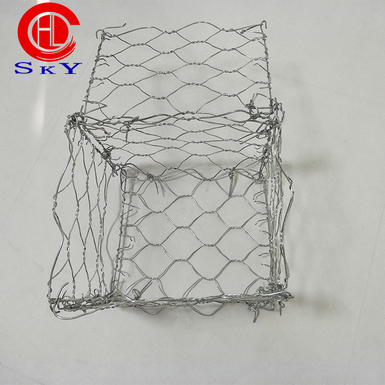 China gabion wire mesh stone cage 2m*1m*1m gabion box and gabion mattress reno factory