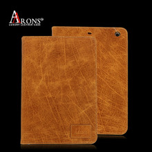 Top grain cow leather case for ipad mini 2 for ipad mini leather case