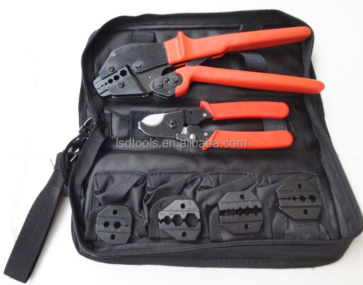 ap k05h coaxial crimping tool kit with cable cu replaceable dies for cctv bnc coaxial cable. Black Bedroom Furniture Sets. Home Design Ideas