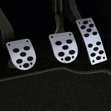 Universal Car Pedal Cover 1 Set Foot Pads Aluminum Rubber Grip Non-Slip