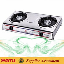 Double 2 Burner Cast Iron Portable Kitchen Gas Burner Gas Range