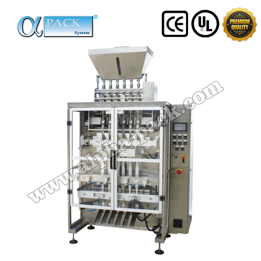 MLP-800-06G Professional Premium Quality Automatic Salt Sugar Granule Stick Pack Multi-Lane VFFS Packing Machine