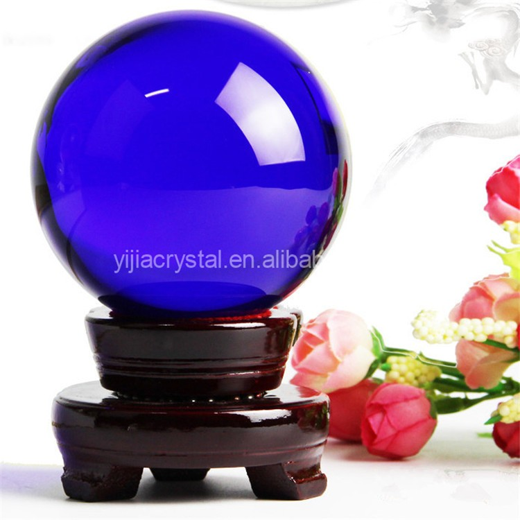 Exquiste Custom Decorative Clear Original Colored Crystal Glass Ball/Sphere