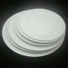 10.5 inch round porcelain dinner plate B ceramic white round flat plate
