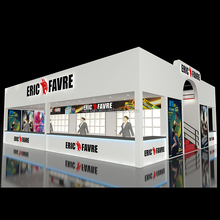 Detian Offer 120m2 wooden booth exhibition stand rent with designer supplier contractor