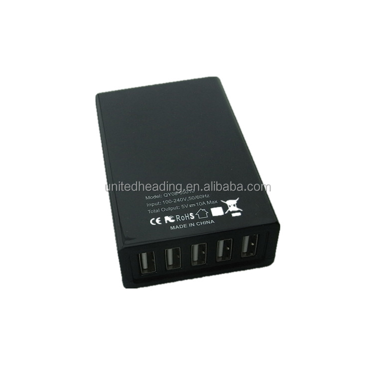 40w 5port USB Charger 5V 8A USB Fast Charger for Mobile Phone