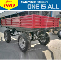 supply D-One brand commercial big dropside tractor truck trailer for sale