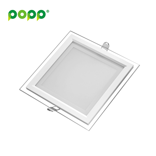 2016 most popular square glass 6W SMD2835 panel led ceiling light
