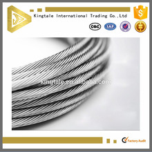 3mm zinc coated steel wire cable 1*7