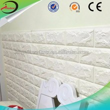 3d stickers exterior decoration wall brick 3d pe polyurethane wallpaper uv coating plastic wall covering