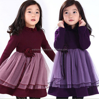 2015 girls tutus baby dress winter girls frocks dresses for party and birthday