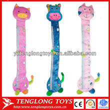 Hot sale baby growth record soft plush animal Height Charts