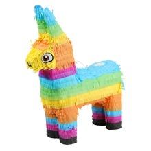 Schweif Donkey Pinata Multicolor Esel Burro Donkey Bash Pinata Children's Birthday Party GAG Geburtstag und Partys Game