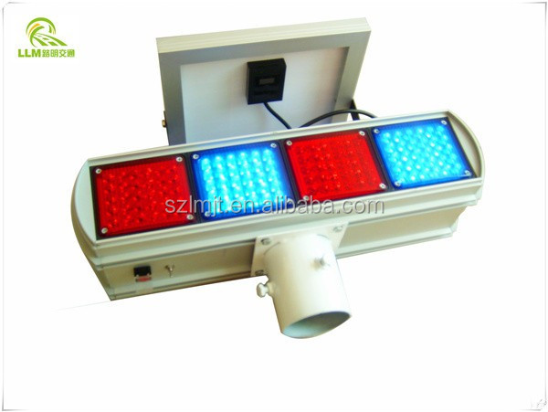 Hot sale double-sided waterproof LED flashing solar powered traffic strobe light