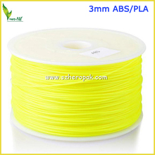 Factory Supply 3.0mm ABS/PLA Filament Yellow PP Filament For 3D Printer