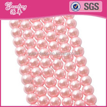 Bead landing assorted color round plastic abs glass pearl beads strand