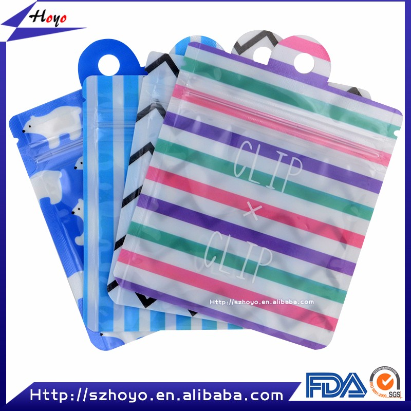 New Products 2016 For Iphone 6 Case And Ear Piece Zipper Top Packaging Bag