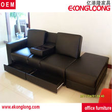 furniture bed leather sofa/sofa bed with drawer